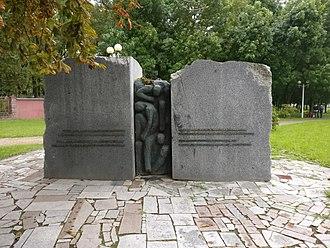 Minsk Ghetto - The monument to victims of Minsk ghetto at Pritytskogo street, Minsk, Belarus