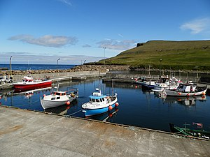 The port of Skalavik Faroe Islands in 2012.JPG