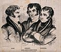 The portraits of Hunt, Probert and Thurtell. Engraving by Wh Wellcome V0041660.jpg