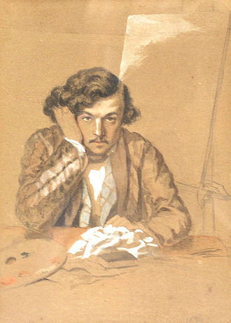 Theodor Aman - Self-portrait (1851)