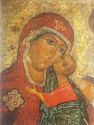 Eleusa icon - Image: Theotokos of Tolga (fragment)