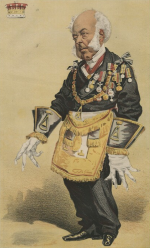 Thomas Dundas, 2nd Earl of Zetland - Thomas Dundas, 2nd Earl of Zetland, as Grand Master, from Vanity Fair, 1869.