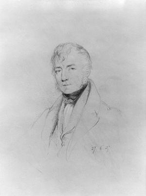 Thomas Frederick Colby - Thomas Frederick Colby, 1837 drawing by William Brockedon