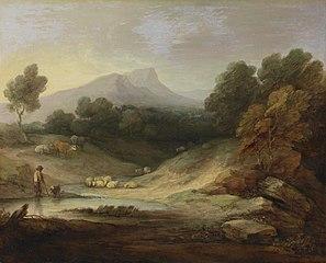 Landschaft mit Hirt und Herde