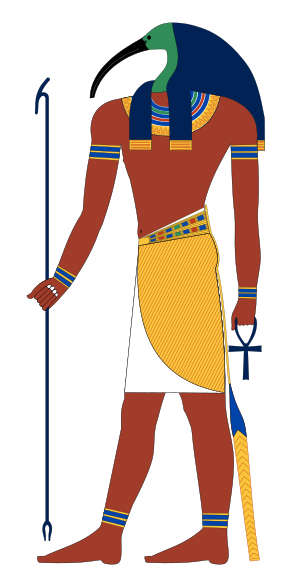 Thoth, ancient Egyptian god often depicted as ...