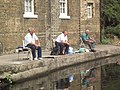 Three fishermen, Old Ford Lock, East London - geograph.org.uk - 345721.jpg