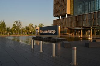 ThyssenKrupp - ThyssenKrupp HQ entrance
