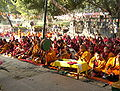 Tibet monk prays in Bodh Gaya.jpg
