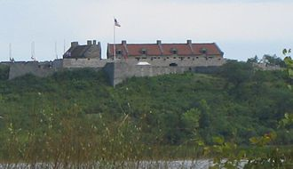 Battle of Carillon - Fort Ticonderoga, as seen from Lake Champlain