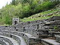 Tiered seating and tower at the Glynllifon outdoor theatre - geograph.org.uk - 789134.jpg