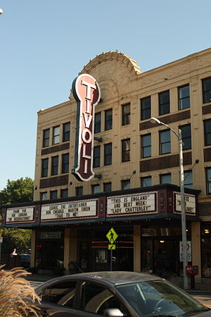 Delmar Loop - The Tivoli Theatre is a three screen art house theater on the Delmar Loop