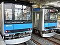 Tobu 60000 series 66615 & 66617 at Kashiwa Station.jpg