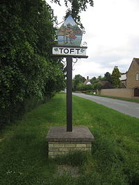 Toft village sign.JPG