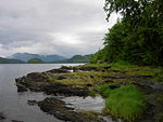 Mountains and water in Tongass National Forest.