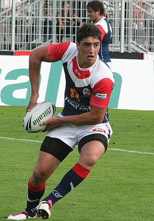 Gigot playing for France in 2010 Tony Gigot 10.JPG