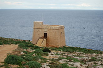 French invasion of Malta - The Sopu Tower, which was located close to the landing site and offered some resistance to the invasion