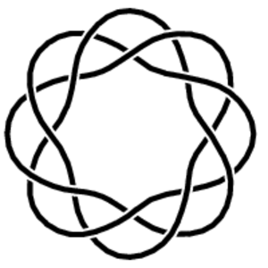 Torus knot - Diagram of a (3,−8)-torus knot.