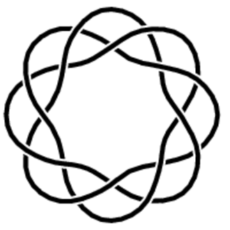 Torus knot - Diagram of a (3,−8)-torus knot.