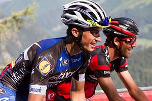 Julian Alaphilippe - Alaphillippe (left) at the 2016 Tour de France
