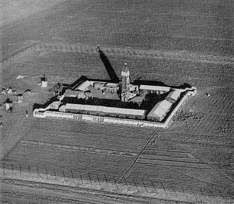 Beit Yosef, Israel - Image: Tower and Stockade settlement, aerial view 1938