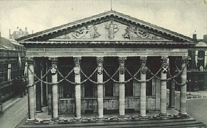 Birmingham Town Hall - The Town Hall in 1937 decorated for the coronation of George VI and his wife Elizabeth
