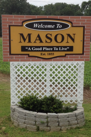 Mason, Tennessee - Image: Town Of Mason Entrance sign