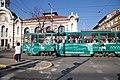 Tram in Sofia near Central mineral bath 2012 PD 081.jpg