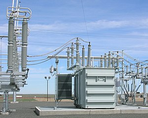 IEEE 1613 - Image: Transformers at substation near Denver International Airport, Colorado