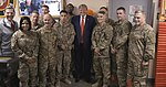 Trump poses a photo with troops in Bagram Air Base (2).jpg