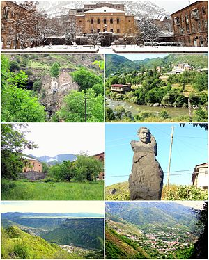 Tumanyan landmarks Tumanyan Central squareKobayr monastery • Debed RiverHouse of culture • Statue of Hovhannes TumanyanDebed River gorge • Tumanyan landscape