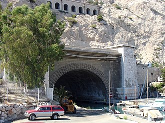 Rove Tunnel - The southern portal