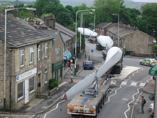 Turbine Blade Convoy Passing through Edenfield
