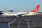 Turkish Airlines, TC-JVE, Boeing 737-8F2 (22391787310).jpg