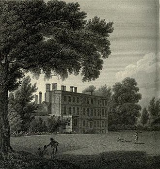 George Cambridge (priest) - Twickenham Meadows, engraving by John Landseer after John Webber (detail)