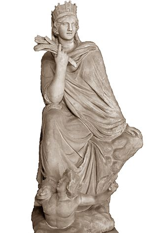 Eutychides - The Tyche of Antioch, Roman copy of a bronze by Eutychides, Galleria dei Candelabri, Vatican Museums, 4th century BC