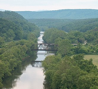Nelson County, Virginia - The Tye River flows through the mountains and low hills of Nelson County.