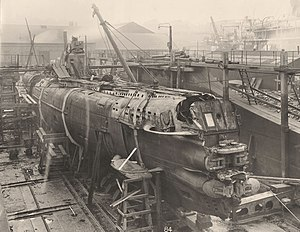 U-Boat 110, a general view looking aft (8770771018).jpg
