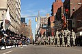 U.S. Army Soldiers of the New York Army National Guard's 1st Battalion, 69th Infantry Regiment, marches down Lexington Avenue as they return from the 250th New York City St 110317-A-ZZ999-018.jpg