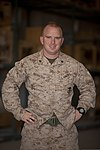 U.S. Marine Corps Cpl. James Register, assigned to Combat Logistics Regiment 2, Regional Command (Southwest), poses for a photo Oct. 3, 2013, at Camp Leatherneck, Afghanistan 131003-M-ZB219-225.jpg