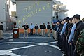 U.S. Navy Vice Adm. Bruce W. Clingan, the commander of the U.S. 6th Fleet, addresses the crew of amphibious transport dock ship USS Nashville (LPD 13) during a port visit to Rota, Spain 090128-N-JS726-002.jpg