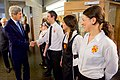 U.S. Secretary of State John Kerry Shakes Hands With Servers at Luncheon After Arriving at St. Antony's College in Oxford (26346476693).jpg