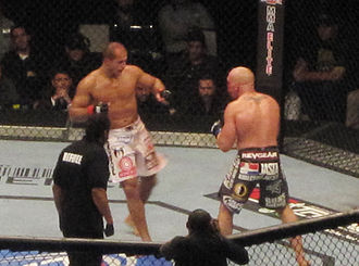 Junior dos Santos - Junior dos Santos in action against Shane Carwin in the main event of UFC 131.