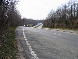 U.S. Route 301 in Maryland - Robert Crain Highway in Prince George's County