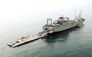 Herbert K. Pililaau - The USNS Pililaau anchored off the coast of Camp Pendleton, California, in 2008