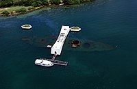 USS Arizona Memorial (aerial view).jpg