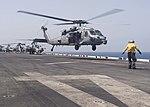 USS Boxer conducts flight operations. (27449283081).jpg