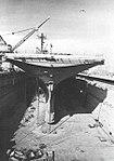 USS Hornet (CVS-12) in a dry dock of the Long Beach Naval Shipyard, circa in early 1968.jpg