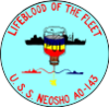 USS Neosho (AO-143) insignia, 1958 (NH 65718-KN).png