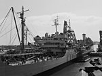 USS Niobrara (AO-72) at the New York Naval Shipyard in 1953.jpg