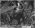 USS West Virginia 5-30-42, Dud bomg found at Fr. 63 Portside 2nd deck. Approx. weight 1750 lbs. (FCP) - NARA - 296916.tif